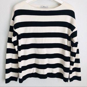 Zara Knit Striped Sweater